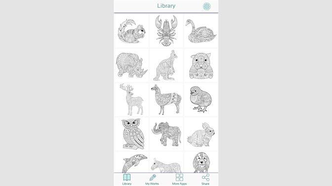 Tiere Ausmalbilder Erwachsene Beziehen Microsoft Store De De