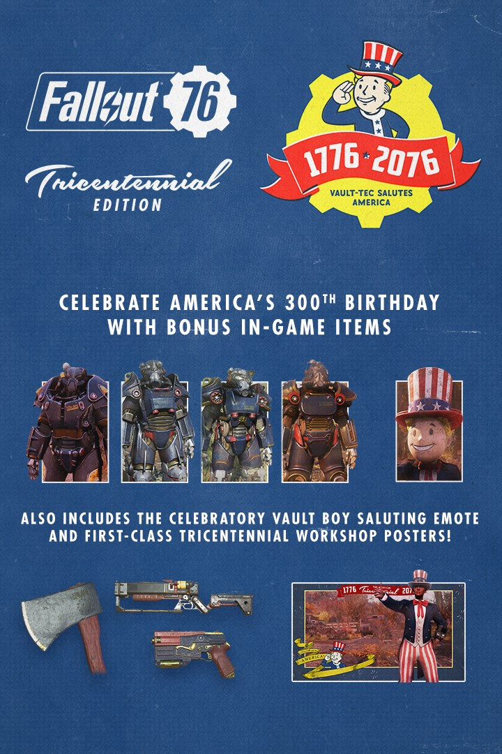 Buy Fallout 76: Tricentennial Pack Upgrade - Microsoft Store