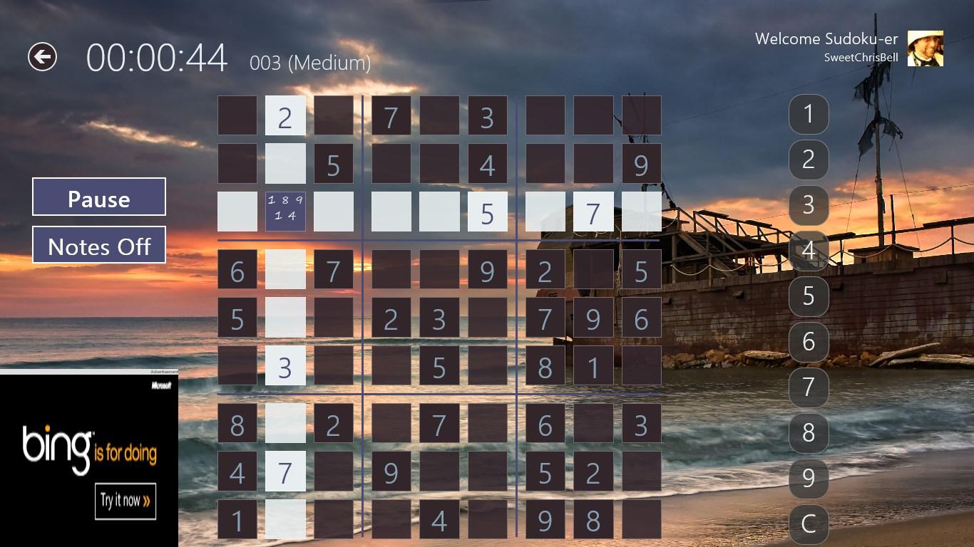 Sudoku Pro Free for Windows 10