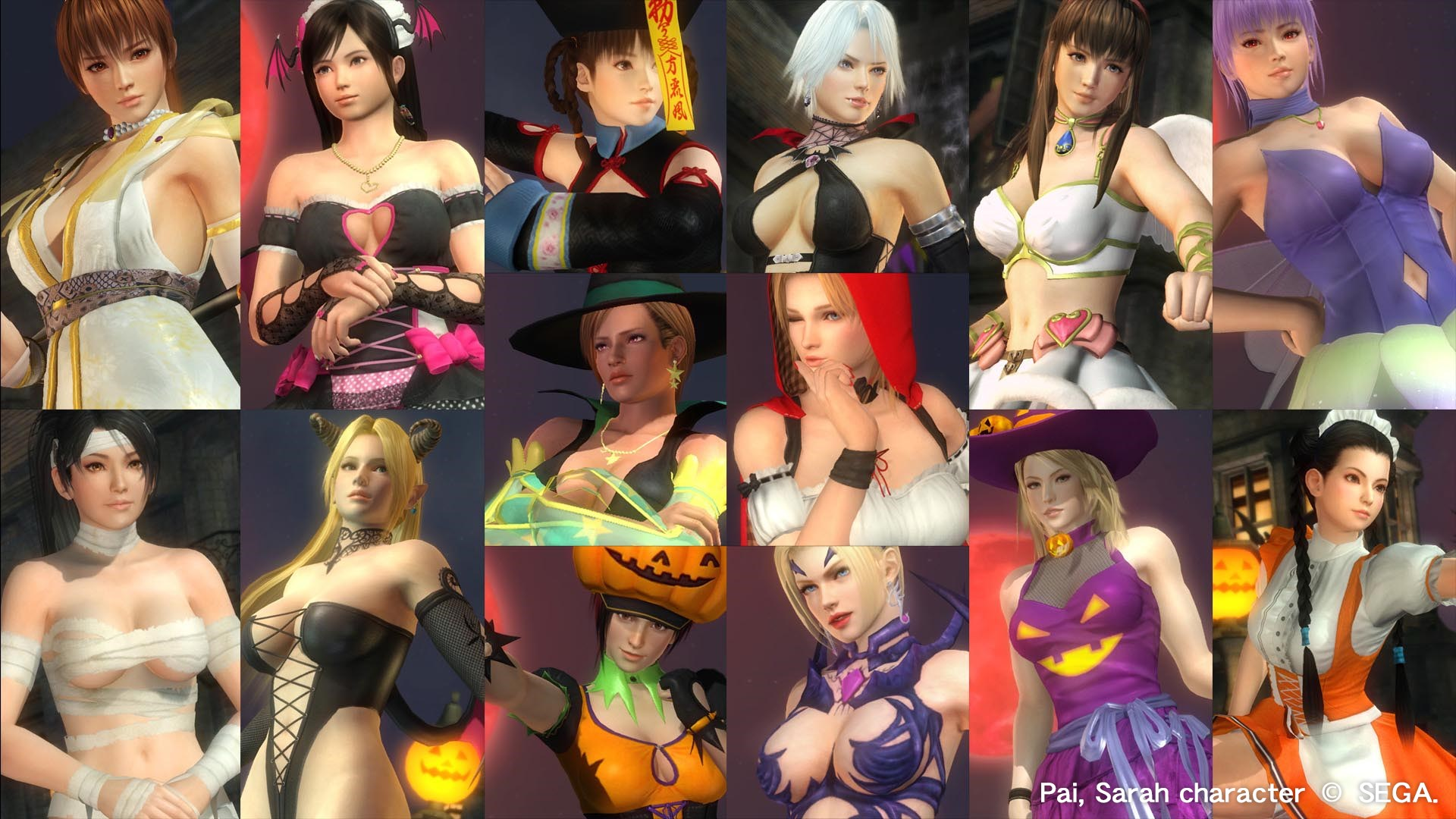 DOA5LR Ultimate Halloween Set