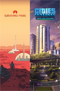 Carátula del juego Cities: Skylines + Surviving Mars