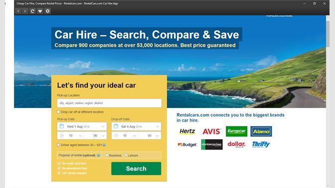 Get RentalCars com Car Hire App - Microsoft Store