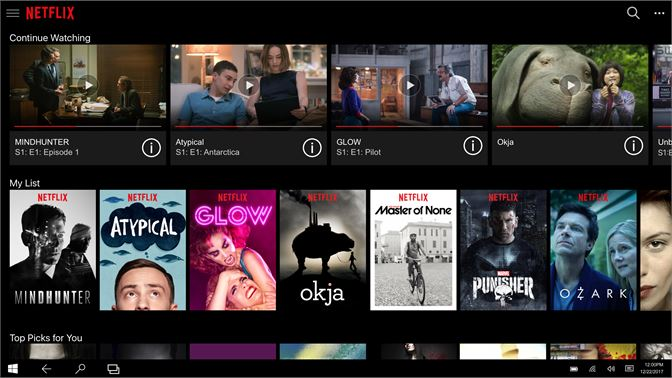 Show Detail Watching A Movie On Netflix Home Screen