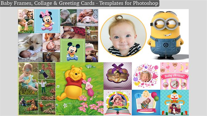 Buy baby frames collage greeting cards templates for photoshop screenshots m4hsunfo