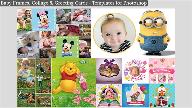 Buy Baby Frames, Collage & Greeting Cards - Templates for Photoshop ...