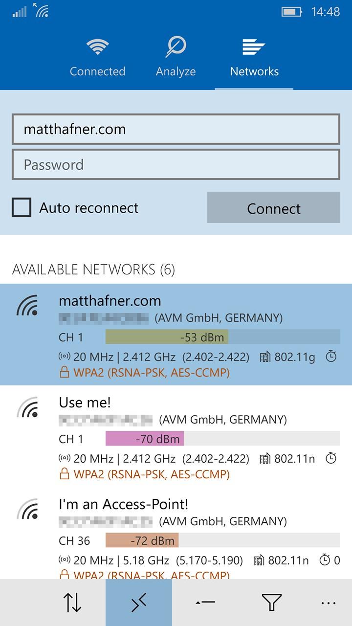 WiFi Analyzer for Windows 10