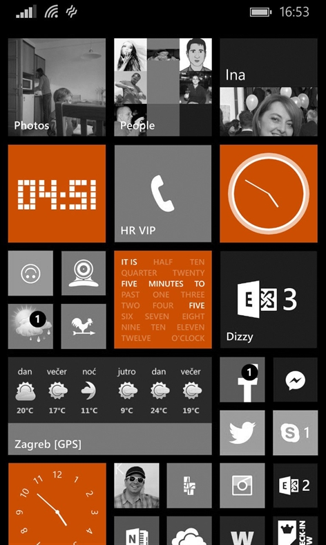 Analog Clock Tile Screenshot