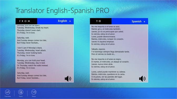 Get Translator English-Spanish PRO - Microsoft Store