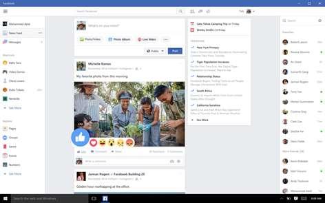 Facebook Screenshots 1