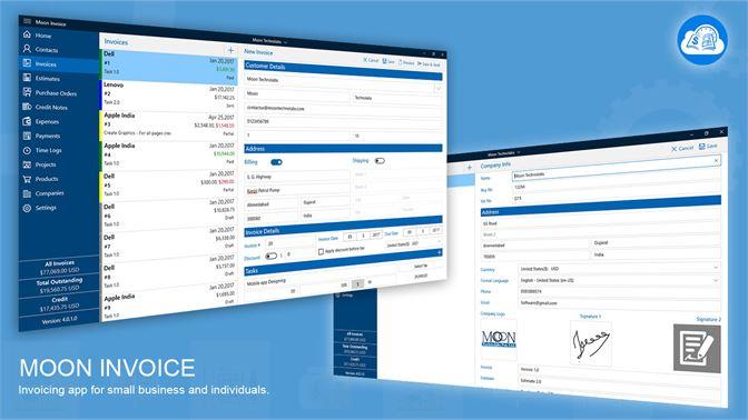 Get Moon Invoice Microsoft Store EnJE - Moon invoice