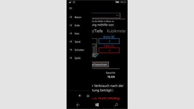 Turbo Baustoffrechner beziehen – Microsoft Store de-DE VA64