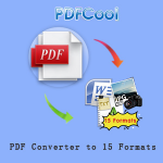 PDF Converter to 15 Formats - PDFCool Logo