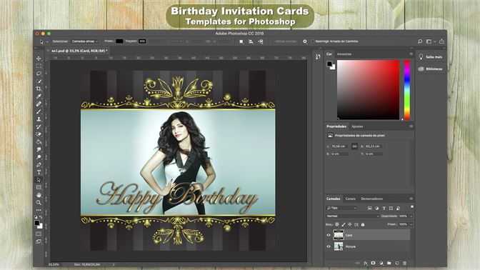 Buy Birthday Invitation Cards Templates For Photoshop Microsoft Store En Tl