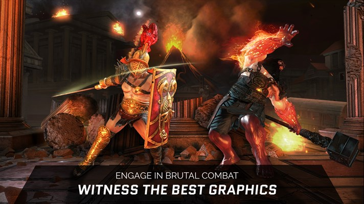Screenshot: ENGAGE IN BRUTAL COMBAT WITNESS THE BEST GRAPHICS ON MOBILE