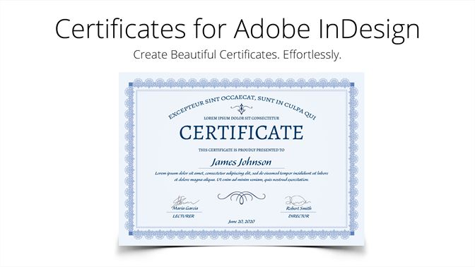 Buy Certificate Templates For Adobe Indesign Microsoft Store