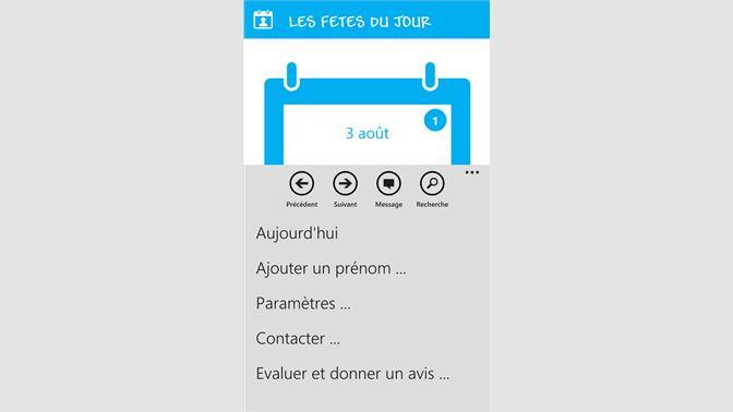 Calendrier Fete Prenom 2019.Recevoir Fetes Du Jour Microsoft Store Fr Fr