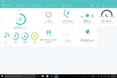 Fitbit Screenshots 1