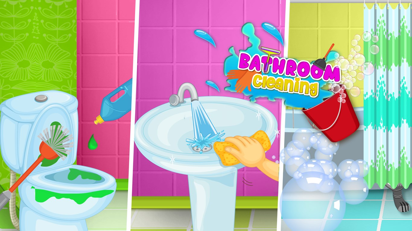 Princess Bathroom Clean Up Toilet Games For Kids For