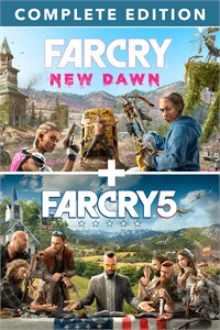 Carátula para el juego Far Cry 5 + Far Cry New Dawn Deluxe Edition Bundle de Xbox 360