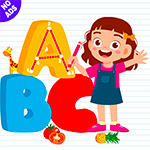 ABC DRAW for Kids : Drawing & Spelling! Alphabet Tracing Preschool Logo