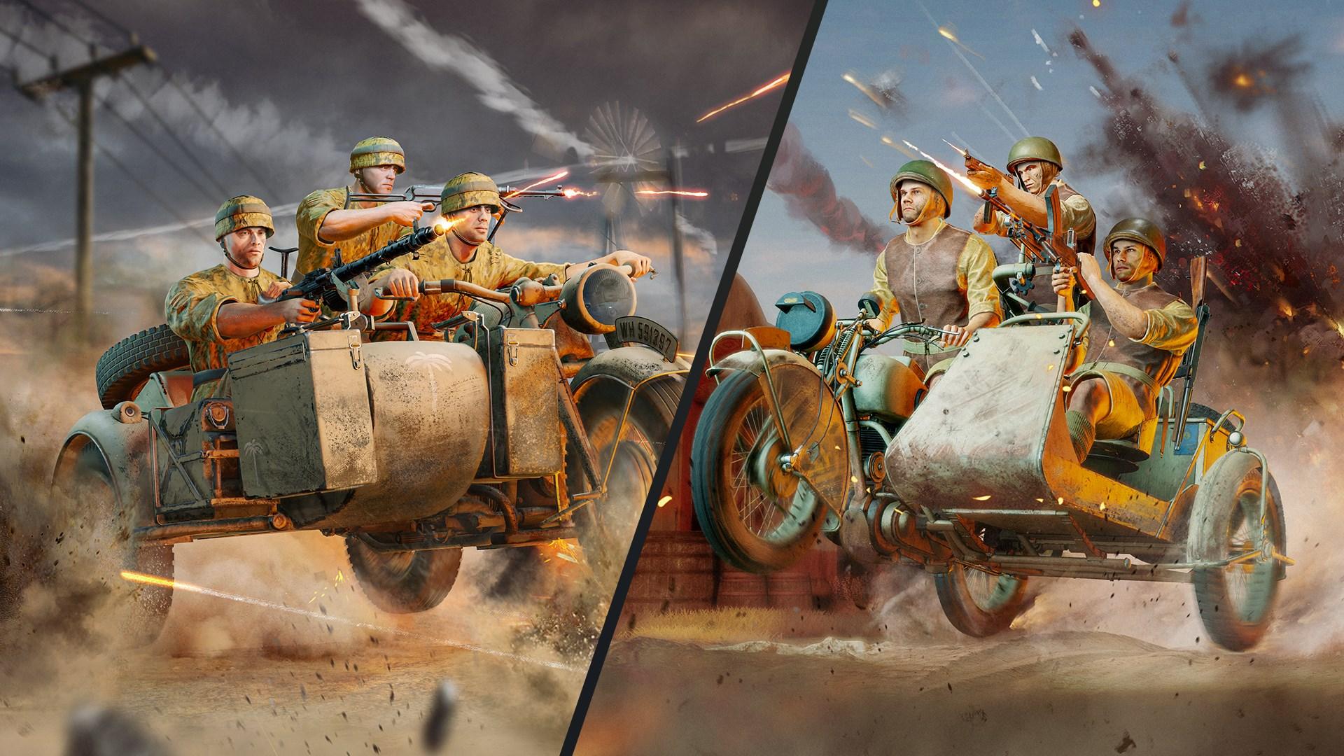 "Enlisted - ""Battle of Tunisia"": Motorcyclists Bundle"