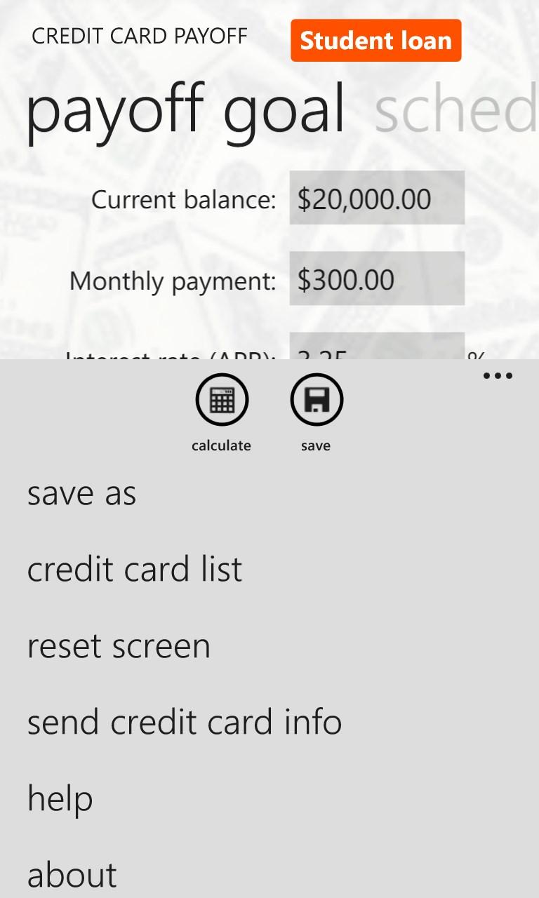 Credit Card Payoff