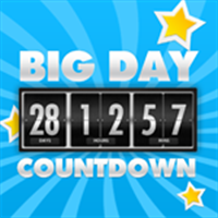 Buy Big Days of Our Lives Countdown Timer - Digital Event Count Down Clock  with HD full screen background (for counting how many days and time to go,