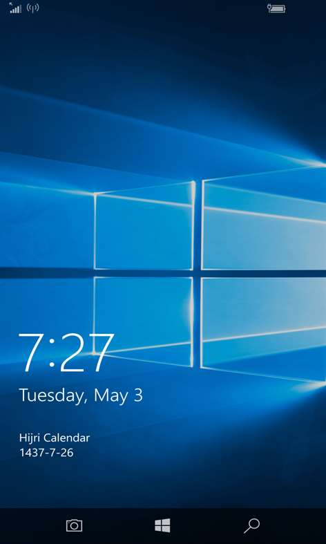 Screenshot: Lock Screen
