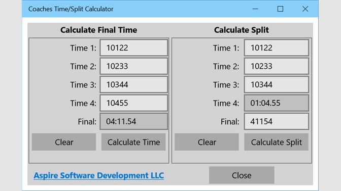 Pace calculator.