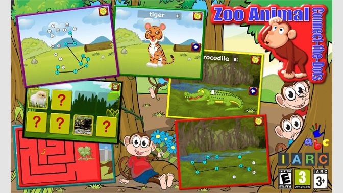 Get Preschool ABC Zoo Animal Connect the Dot Puzzles - teaches
