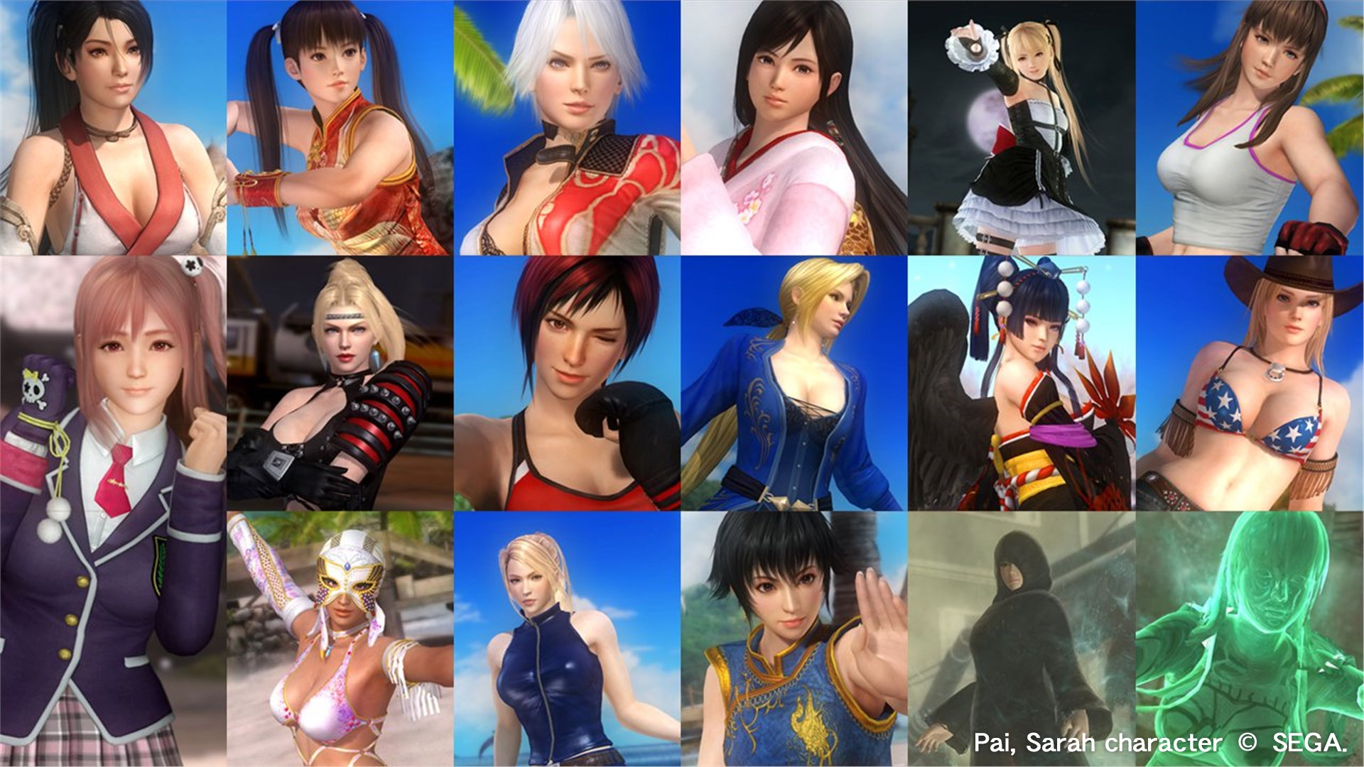 DOA5LR: Core Fighters - Female Fighters Set