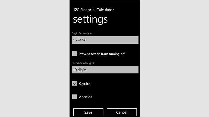 Buy 12C Financial Calc - Microsoft Store