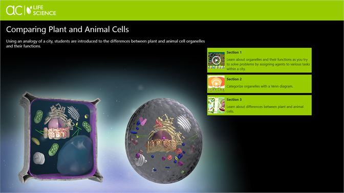Buy Ac Life Science Comparing Plant And Animal Cells Microsoft Store