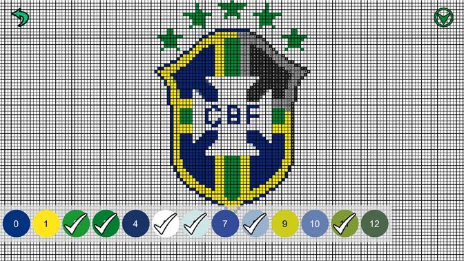 Recevoir Football Logo Color By Number Pixel Art Sandbox
