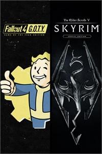 Carátula del juego Skyrim Special Edition + Fallout 4 G.O.T.Y Bundle