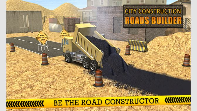 Get City Construction Roads Builder 3D - Excavator Sim - Microsoft Store