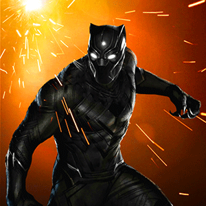 Grand Black Superhero Panther PRO