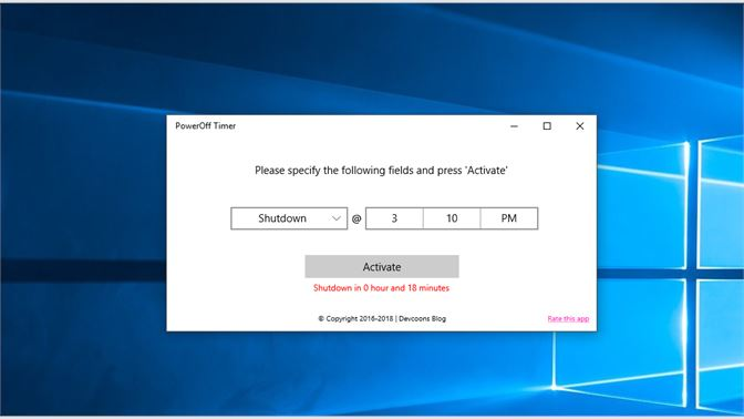 Get PowerOff Timer - Microsoft Store
