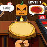 Halloween Pizzeria Logo