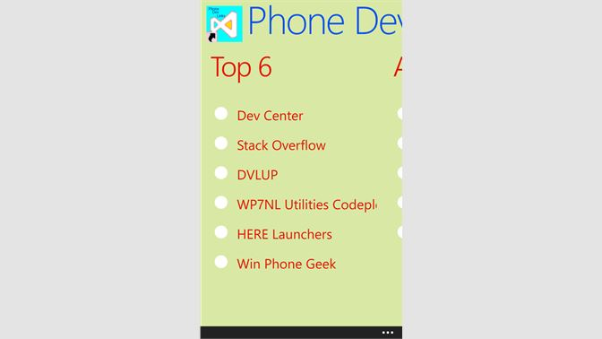 Get Phone Dev Links - Microsoft Store