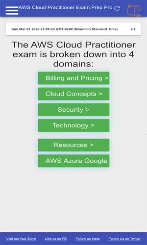 AWS Certified Cloud Practitioner Mock Exams Pro Screenshot