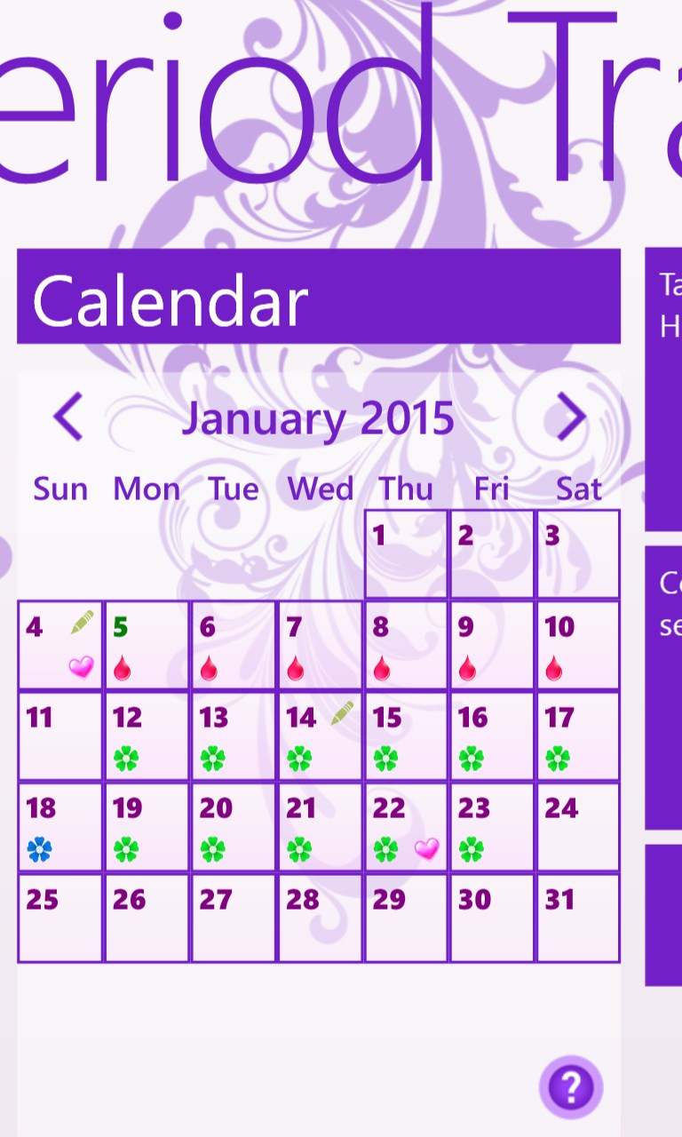 Buy My Period Tracker / Calendar - Microsoft Store