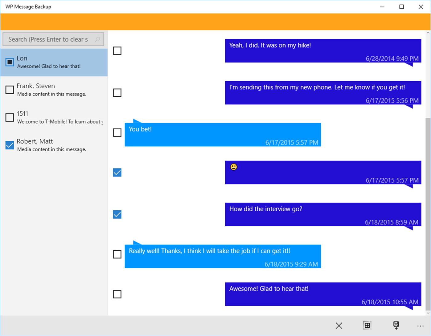 Trasferire SMS da Windows Phone (Lumia) su Android