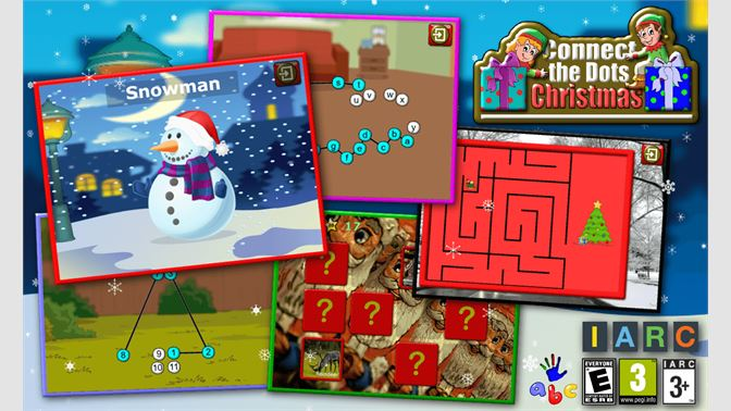 Christmas Connect.Get Kids Christmas Connect The Dots Puzzles Educational