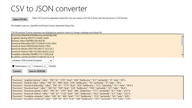 Get CSV to JSON Converter - Microsoft Store