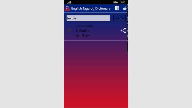 Get Free English Tagalog Dictionary - Microsoft Store en-PH