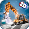 Snow Excavator-Plow and Truck Driving Simulator