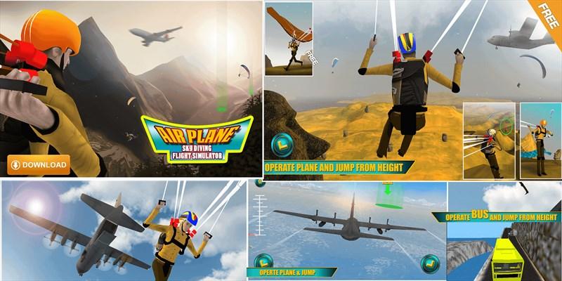 Get Airplane Skydiving Flight Simulator - Flying Stunt