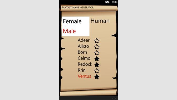 Get Fantasy Name Generator - Microsoft Store