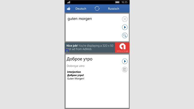 German Russian Translator Beziehen Microsoft Store De Ch